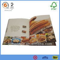 Fashion Design High Quality China Menu Book Design And Printing