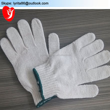 String Knitted Cotton Work Glove CE EN388 EN420 / Cheap White Cotton Hand Gloves free samples
