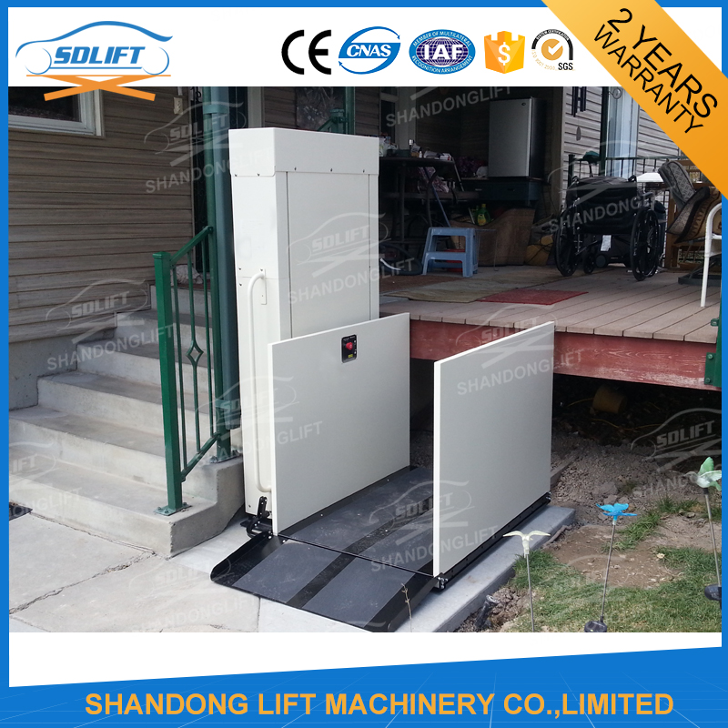 Electric Hydraulic Wheelchair Lift : Outdoor vertical wheelchair lift for stair buy