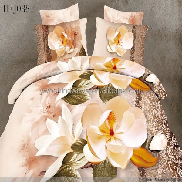 3D polyester colcha adults infantile bedspreads, bedding set