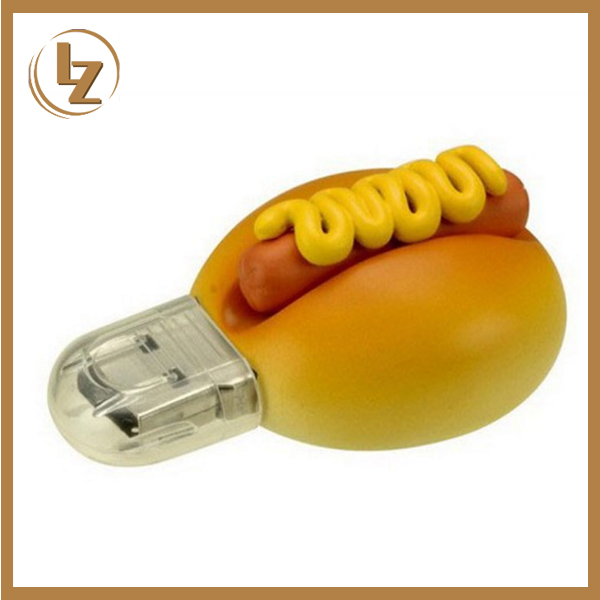 Fancy desing hot dog usb pen drive 256mb