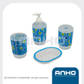 Wonderful pattern round plastic bathroom set