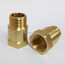 Custom brass pipe fitting two-end Male/female thread joint coupling