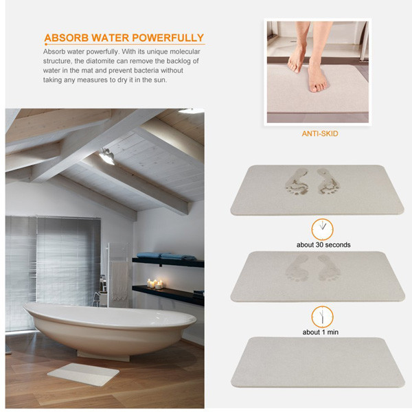 Natural Rubber Bath Mat - Non-Slip Anti-Bacterial Protection