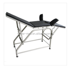 Popular white PU surface manual obstetric labour birthing bed