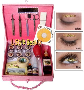 Eyelash Extensions Kit For 100 Persons + VCD Training