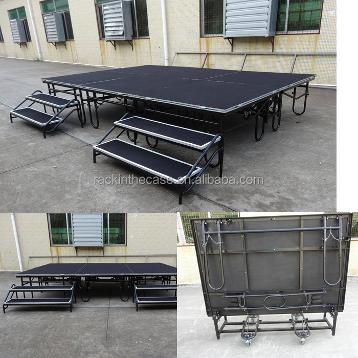 Mobile folding stage/metal stage design /school play folding stage