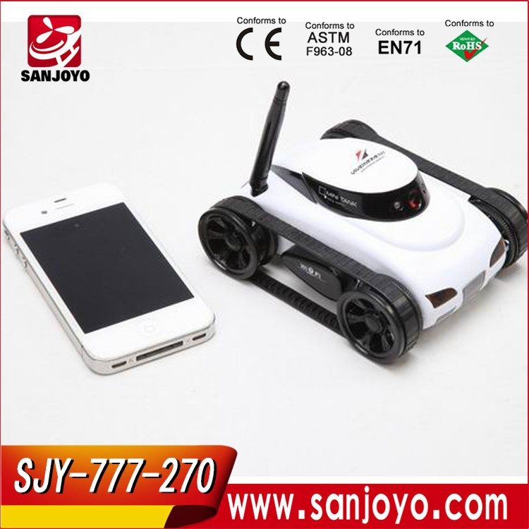 Hot toy new style spy rc rover tank Iphone Control 4channel Mini rc tank car 4CH 777-270