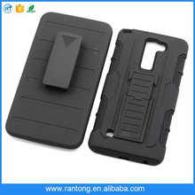 Wholesale 3 In 1 Phone Case For LG k7 With manufacturer belt clip case for LG