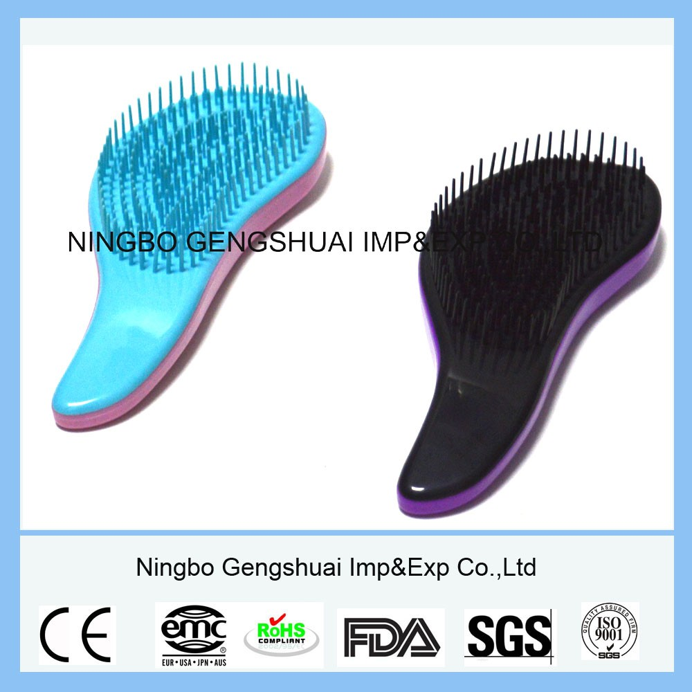 High Quality Plastic Massage Comb Detangling Hair Brush