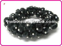 Wholesale Crystal cut facet glass beads stretch bracelet(B102239)