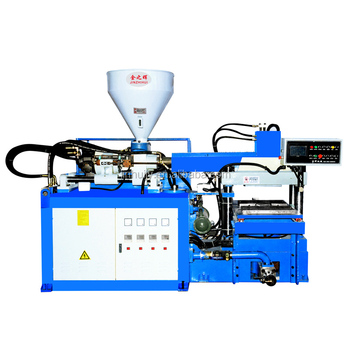 Jieyang Jinhui Single Screw (Slide type) Two Workstation Vertical Plastic Injection Molding Machine Sole/Straps Making Machine