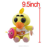wholesale anime soft toy yellow Chica the Chicken plush toy