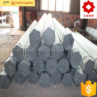 Tianjin manufacturer ERW welded Q235 low carbon hot dip galvanized scaffolding steel pipe/tube