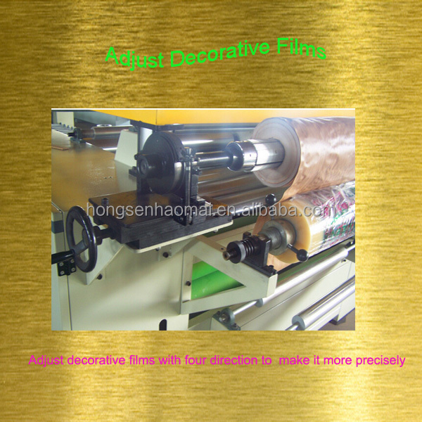Promotion machine laminating PVC on straw plate