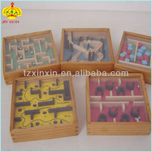 funny wooden labyrinth maze game set toy mini labyrinth game for kids wooden labyrinth seal
