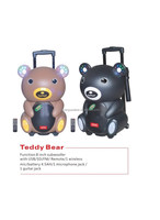 portable music box speaker with usb,sd,fm,eq subwoofer,built-in amplifier(teddy bear)