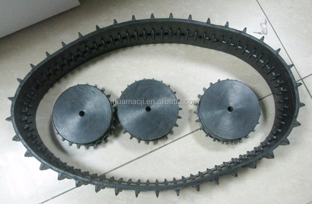 Professional robot rubber track excavator chain with low price