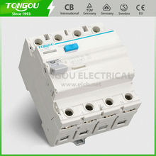 Protection Against Earth Leakage Current 4P 63A 240/415VAC RCCB Residual Current Circuit Breaker TORH2-63
