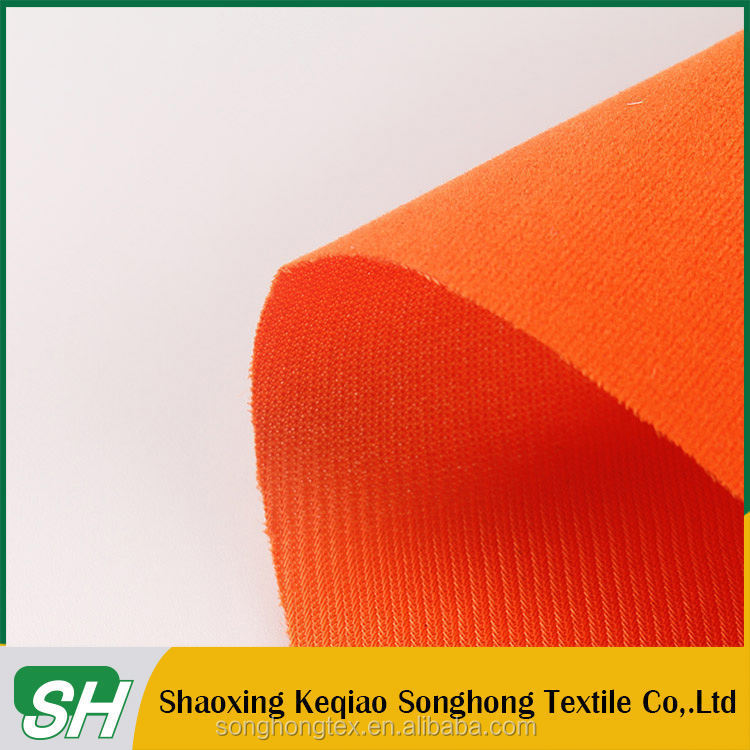 keqiao supplier Warp knitting 100% polyester flocking fabric for packing
