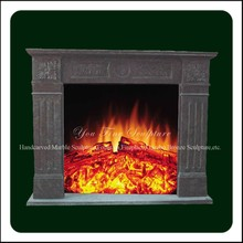 Decorative Hand Carved Stone Corner Fireplaces