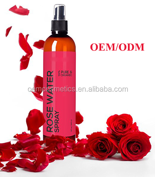 Factory wholesale easy use facial rose water toner spray