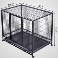 Hot Sale Indoor/Outdoor Dog Kennel And Run Kennels(Alibaba Supply, Square Tube dog cage)