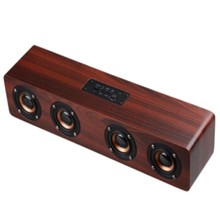 Wholesale Hot Sale multimedia computer speakers Portable Bluetooth wireless active wooden speaker box