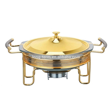CD403A Stainless Steel Round Glass Chafing Dish And Food Warmer