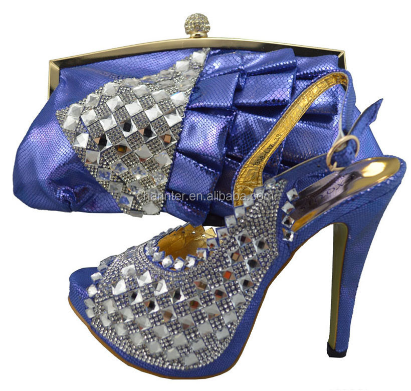 2015 shoes with matching bag/ ladies evening shoes with matching bags/wholesale African shoes and bags