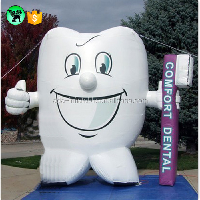 Teeth Promotional Inflatable Toothbrush Advertising Inflatable Toothpaste Replica Tooth Inflatable Model / Tooth A1058