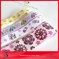 Sinicline factory price wholesale pretty logo custom printed grosgrain ribbon