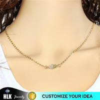 xp jewelry anime golden palm clavicle necklace
