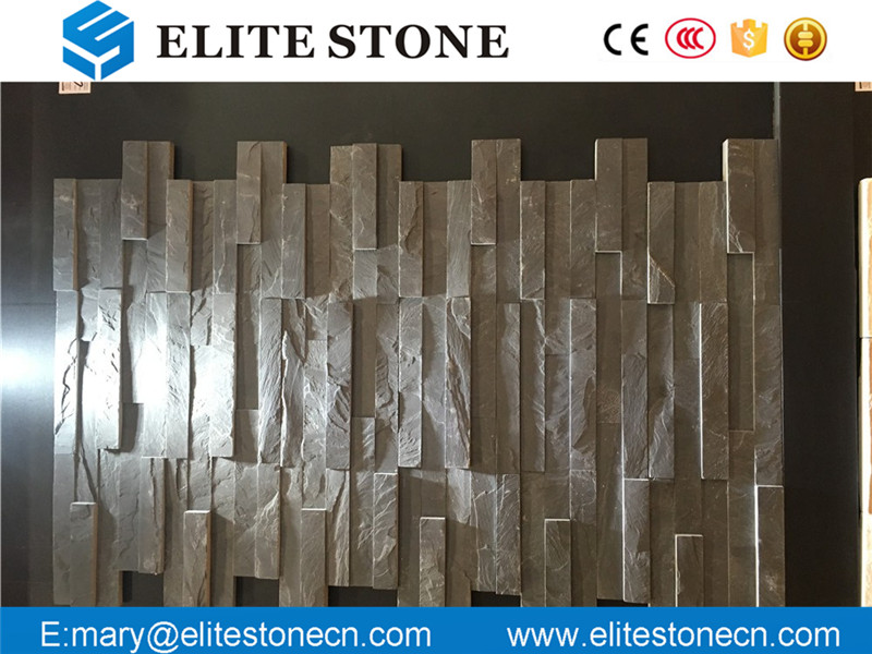 natural hot sale black slate culture stone exterior wall cladding tile