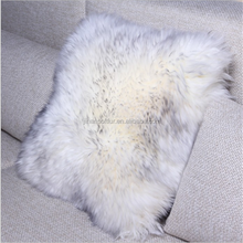45*45cm Square White Color Sheep Skin Fur Pillow Decorative Bolster on Sofa and Chair