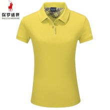 international size comfortable short sleeve woman cotton polo shirt good for gift shirt products
