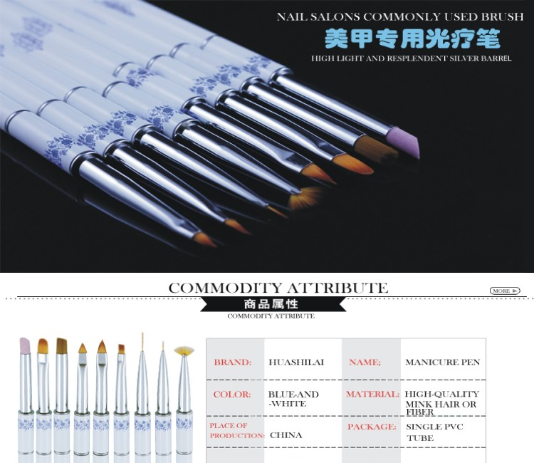 Fashional personal beauty nail care tools manicure pedicure china porcelain pen brush set