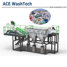 Used LLDPE LDPE PE film agriculture film plastic bags crusher washing recycle machine