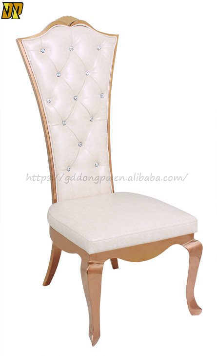 Stainless Steel White Luxury Dining Chair for Hotel Home--Y01