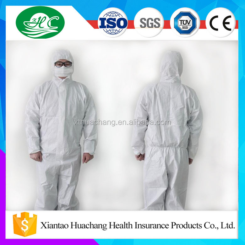 Manufacturer Supply Disposable Non Woven Coverall Uniform with Many Sizes
