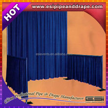 Wedding stage backdrop decoration ployster drape for wedding