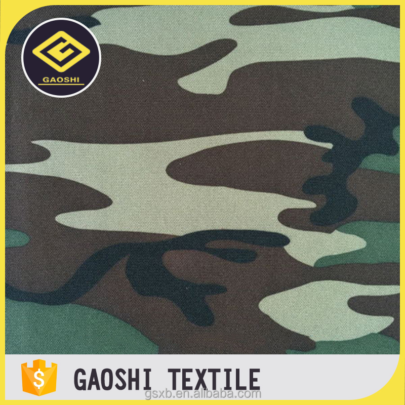 China Manufacturer 600D Polyester Camouflage Printed Qxford Camera Bag Fabric With PVC Backing