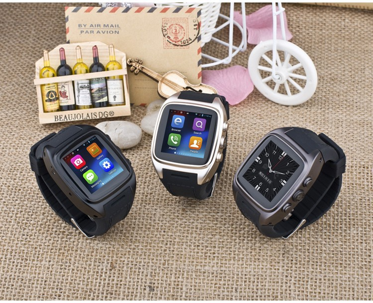 Hot Selling Silicon X01 Android 4.<strong>2</strong> <strong>O</strong>.S Smart Bluetooth Watch 2G/3G Smart Watch <strong>Phone</strong> GPS Pedometer Camera and Heart Rate