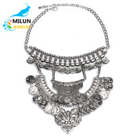AliExpress supplier vintage coin necklace wholesale Yiwu factory