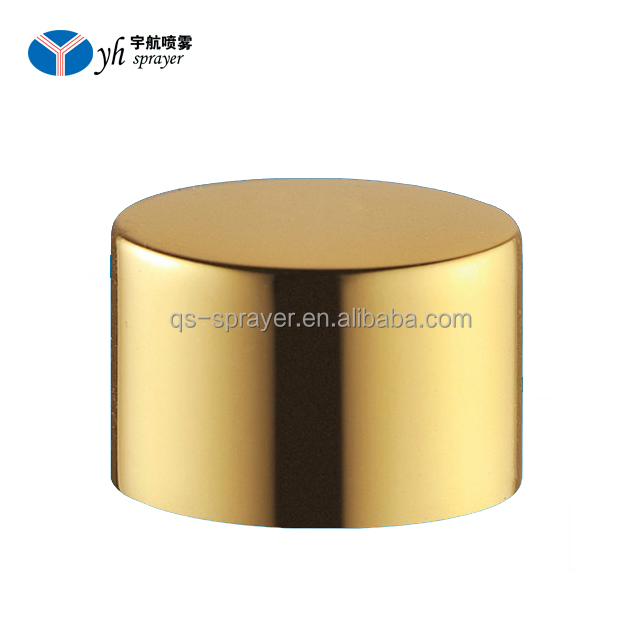 Aluminum screw crimp pump cap for perfume bottle gold silver screw cap