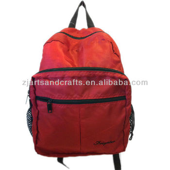 100308 polyester backpack schoolbags