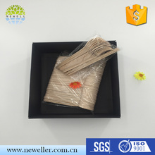 New fashion perfect wood disposable cutlery set with logo burnt