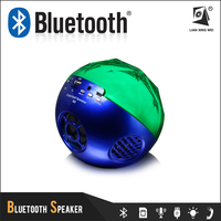 Q8 mini blue tooth speakers with colorful led light fm radio usb port and tf card bleutooth speaker