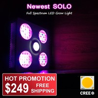 Geyapex SOLO 300w LED COB Grow Light with Full Spectrum 12 bands wavelength New Arrival 2016