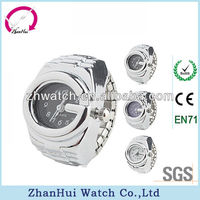 2013 silver colors digital finger ring watch men quartz watch ring